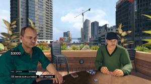 Partie de poker en terrasse